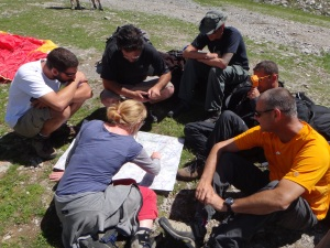 Briefing the route to Annecy