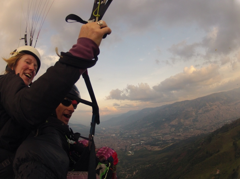 First flight at Medellin -  best way to take in the city!