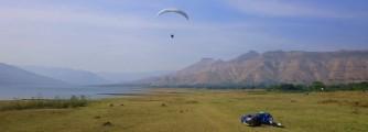 Landing across the lake